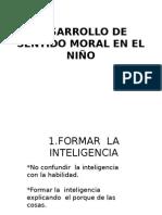 Desarrollo de Sentido Moral en El Niño