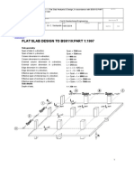 Flat Slab Design to Bs8110