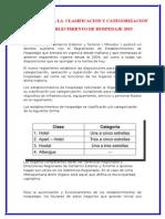 Requisitos Para La Clasificacion y Categorizacion