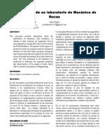 Review Paper Distribución de un laboratorio de Mecánica de Rocas