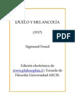 Duelo y Melancolia - Sigmund Freud