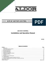 Baldor BC140 Installation & Operation Manual