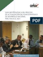 Guia Metodologica Del Proceso de Actualizacion Del Plan Estrategico de Desarrollo Nacional Peru 13-10-2014