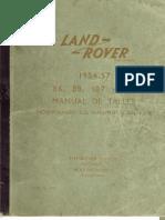 Manual Taller Land Rover Series I (1954-1957)