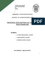Trabajo de Sanitarias (Memoria Descriptiva)