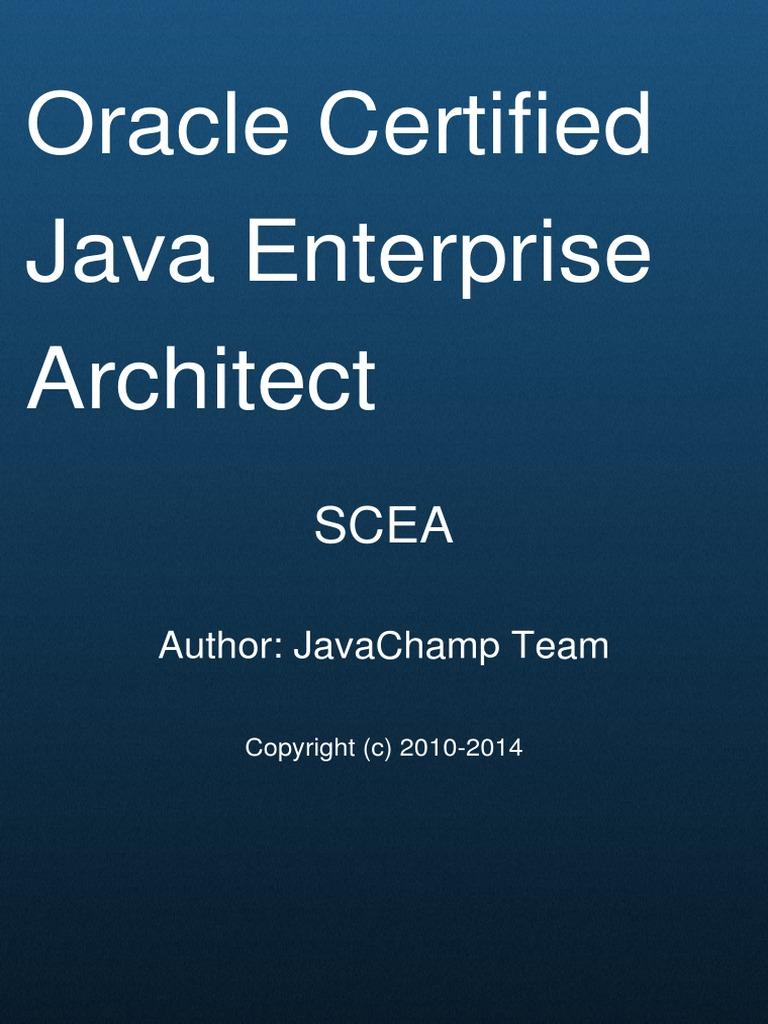 Sun Certified Enterprise Architect Scea Mock Exams Enterprise Java