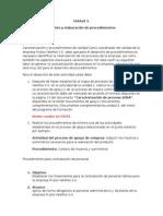 Unidad 3.Análisis y Elaboración de Procedimientos