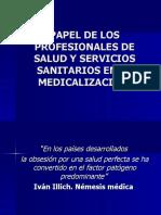 MEDICALIZACION Papel de Los Profesionales
