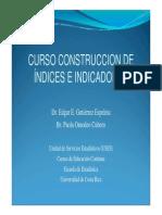 CURSO CONSTRUCCION de Indices e Indicadores