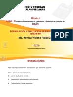 Semana 1 Fotmulacion y Evaluacion de los proyectos de Invercion