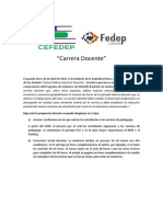 Doc. de Acercamiento a Carrera Docente CEFEDEP