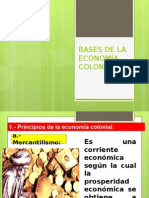 Bases de La Economía Colonial