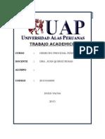Desarrollo Del Trabajo Academico de Derecho Procesal Penal II