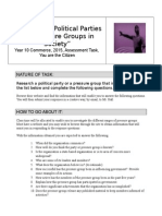 the role of political parties and pressure groups in society assignment