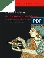 Burkert  - De Homero a los magos