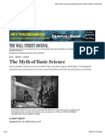 The Myth of Basic Science - WSJ