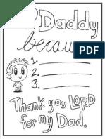 Boy Love Dad Coloring