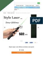 Stylo Laser Vert 20mw Point