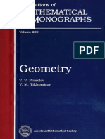 [v.v. Prasolov and v. M. Tikhomirov] Geometry