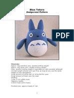 Blue Totoro Amigurumi Pattern