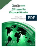 2014 Investor Day