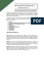 Estructura Del Reporte BUAP
