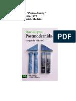 Postmodernidad, David Lyon