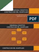 PARADIGMA COGNITIVO:CONSTRUCCION DEL SIGNIFICADO