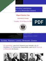 Geometríıa Lorentziana, De Galileo a La Relatividad General - Miguel Sánchez