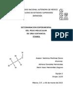 Determinación de Peso Molecular.