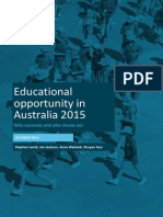 Educational Opportunity in Australia 2015 Who Succeeds and Who Misses Out