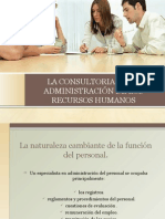 La Consultoria en La Administración de Los Recursos