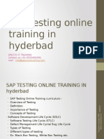 SAP TESTING Online Training in Ameerpet,Hyderbad,Usa&Uk