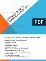 SAP TESTING Online Training in Bangalore