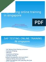 SAP TESTING Online Training in Singapore