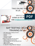 SAP TESTING Online Training in Uk