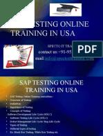 Sap Testing Online Training in Usa
