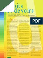 Derechos y deberes en francés