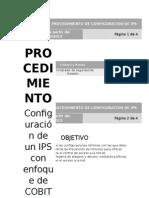 Procedimiento de Configuración de Ips
