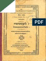 Nyaya Manjari Kashi Sanskrit Series No. 106 1936 - Chowkhamba_Part1