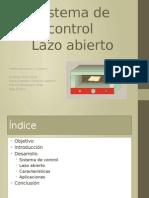 Sistema de Control Lazo Abierto