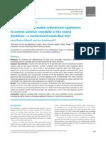 Ortodoncia Fija vs Removible en Correcion Mordida Cruzada Anterior