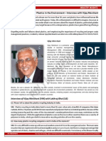 Making a Strong Case for Plastics in the Environment  – Interview with Vijay Merchant