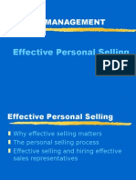 Effective Personal Selling