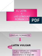 Latín y Lenguas Romances