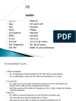 contoh assessment bells palsy