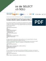 Ejemplos de SELECT