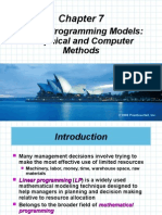 Intro to Optimisation Modelling