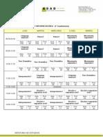 Horarios Grupos 2014 2015 1ºcuad