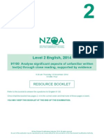 2014 ncea unfamiliar resource